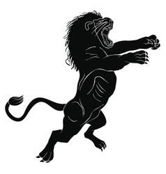 Angry big lion vector