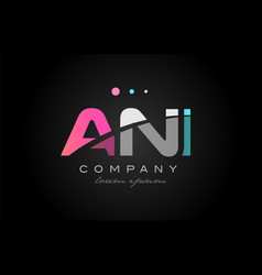 ani a n i three letter logo icon design vector image