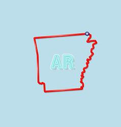 Arkansas us state bold outline map vector