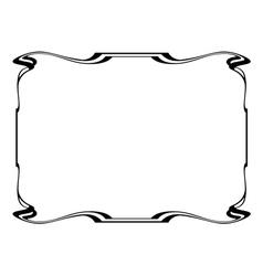 Art nouveau frame vector