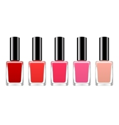 Background with red nail polish vector
