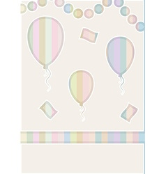 Balloons cut in the paper vector