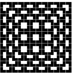 black geometric pattern on white background vector image