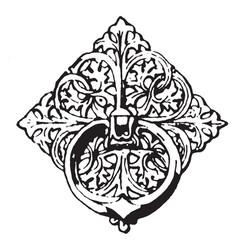 bronze ornament is a twelfth century bronze vector image