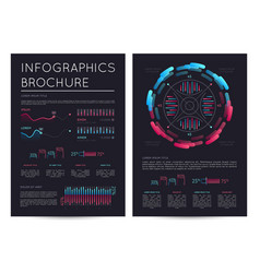 Business infographics brochure with various charts vector
