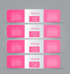 Business infographics template pink color vector