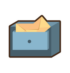 Cabinet mail storage file vector