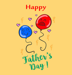 celebration of father day style collection vector image