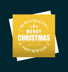 christmas card wit h yellow pattern background vector image