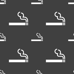 Cigarette smoke icon sign Seamless pattern on a vector