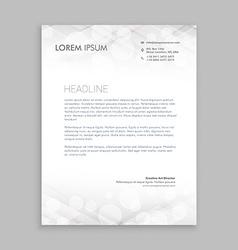 Classic white letterhead design vector