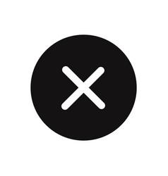 close button icon delete remove cancel exit symbol vector image