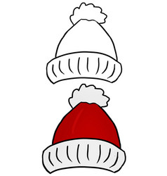 Colored hand drawn christmas hat isolated vector