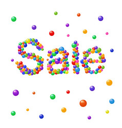 colorful abstract bubbles forming sale message vector image