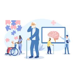 Concept alzheimers disease in elderly vector