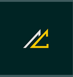 Cool and modern logo initials ac vector