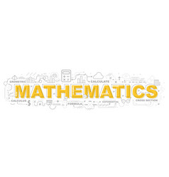 Creative of mathematics with line icon vector