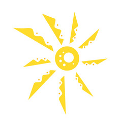 cute funny sun icon bright and beautiful cartoon vector image