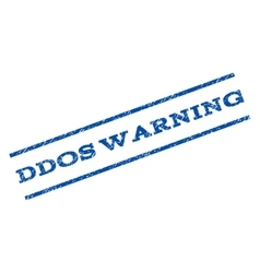 Ddos Warning Watermark Stamp vector