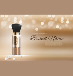 design cosmetics product powder template for ads vector image