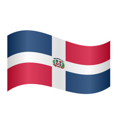dominican republic flag waving on white background vector image