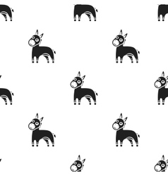 Donkey icon in black style isolated on white vector