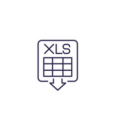 Download xls document line icon vector