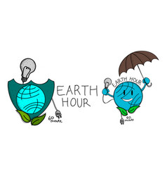 earth hour 60 minute template set vector image