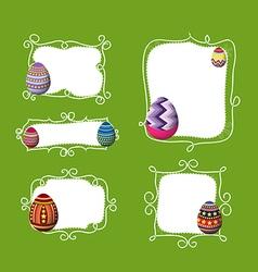 Easter eggs doodle boder vector