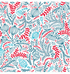 Ethnic style floral colorful seamless pattern vector