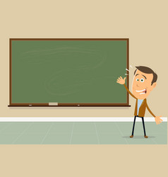 Express yourself - teacher showing blackboard vector