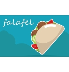Falafel stuffed pita with vegetables vector image