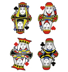 Four Queens no cards vector image