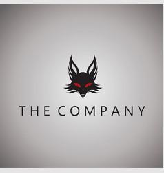 Fox logo ideas design vector