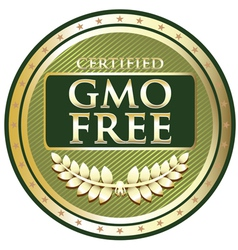 GMO Free Green Label vector image