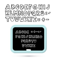 Hand Written Sketched Alphabet - Font with vector