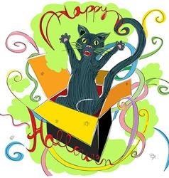 happy halloween cat vector image vector image