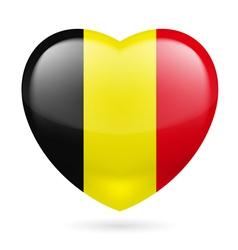 Heart icon of Belgium vector