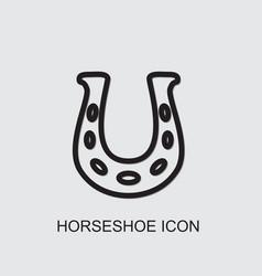 Horseshoe icon vector