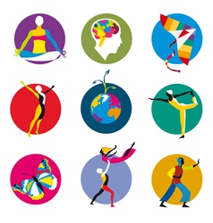 Human development icons vector