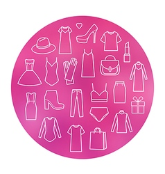 icons set of fashion vector image