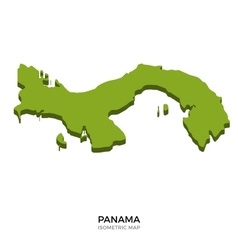 Isometric map of Panama detailed vector