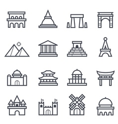 Landmark Icon Bold Stroke vector