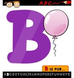 Letter b with balloon cartoon vector