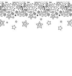 Line stars christmas decoration backgroud vector