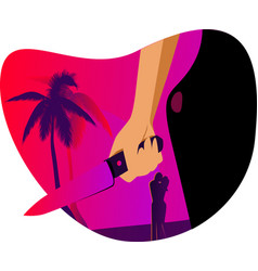 Love and jealousy in tropical paradise vector