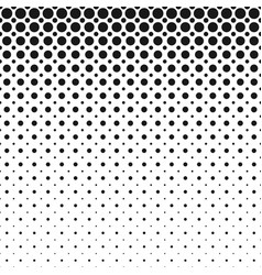 monochrome abstract geometric halftone circle vector image