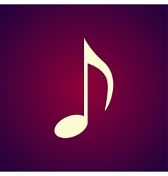 Music note icon vector image