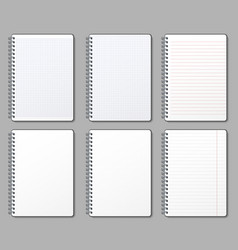 notebook page lined and dotted pages notebooks vector image