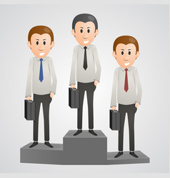 office man on a pedestal vector image